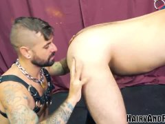 'HAIRYANDRAW Kinky Nick Hole Bends Over Before Fucking Raw'