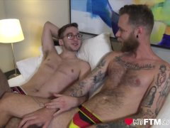 'MyFTMCrush - Bearded stud toys with Ari Koyote's head after oral'